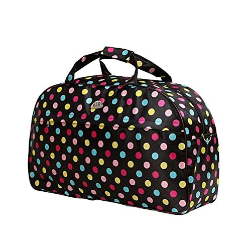 delicate Ecokaki(TM) Hand Luggage Duffle Bag Travel Size Sports Durable Gym Bag with Shoulder Strap, Dots