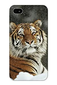 Fireingrass Premium Animal Tiger Heavy-duty Protection Design Case For Iphone 4/4s