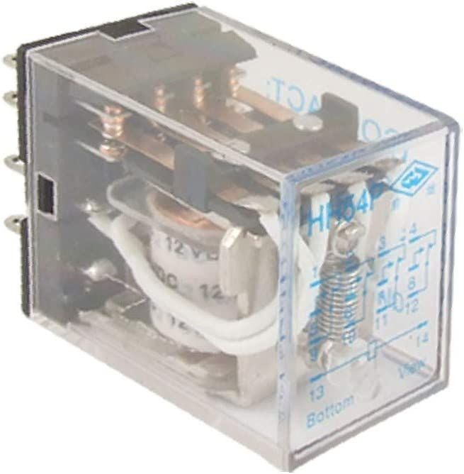 X-DREE HH54P DC 12V high Performance Coil Power Relay Essential 14 Pin 4PDT Well Made 4 NO 4 NC d63-98-10-c60