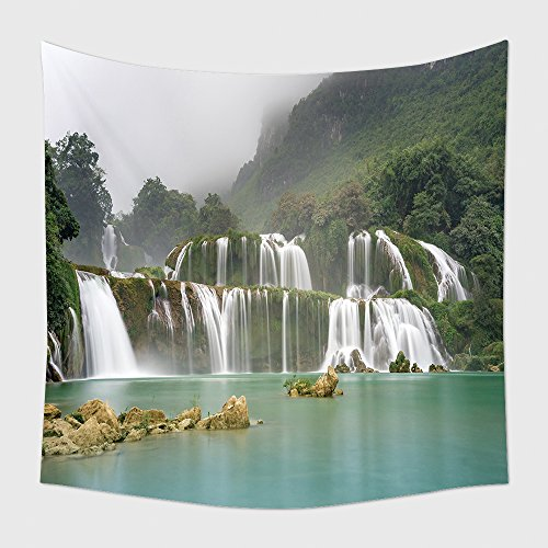 Home Decor Tapestry Wall Hanging Ban Gioc Waterfall On The Quy Xuan River Is Located In Cao Bang Province Nears The Sino Vietnamese 340289519 For Bedroom Living Room Dorm