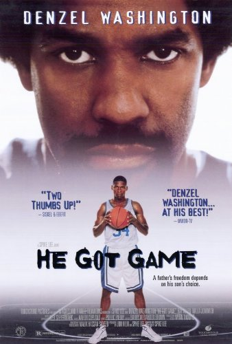 HE GOT GAME (1998) Original Authentic Movie Poster 27x40 - Single-Sided - Denzel Washington - Milla Jovovich - Rosario Dawson