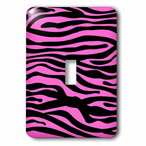 3dRose LLC lsp_56677_1 Hot Pink and White Zebra Stripe Print Pattern Animal Print Collection for Girly Fashionistas Single Toggle Switch (Table Fashionista)