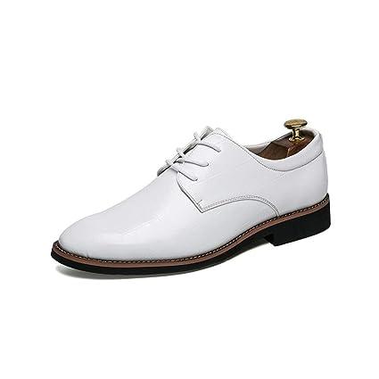 b8370382 Tufanyu Consejos Informales de Oxford para Hombres con Zapatos Formales de Tendencia  Juvenil Transpirable Ajustado (