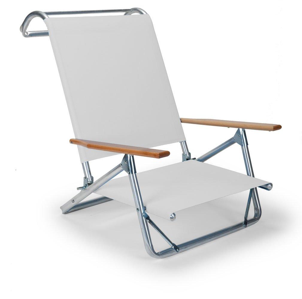 Telescope Casual Original Mini-Sun Chaise Folding Beach Arm Chair, White-(74106D01) by Telescope Casual