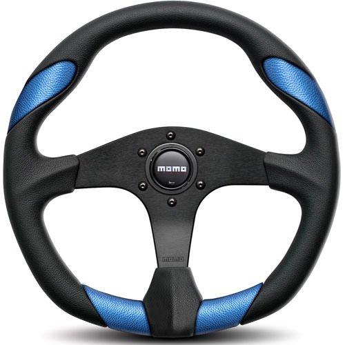 MOMO QRK35BK0BU Quark Blue 350 mm Urethane Steering Wheel