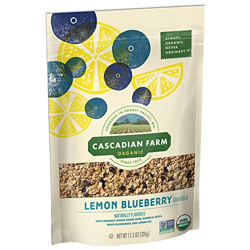 Granola Honey Blueberry - Cascadian Farm Lemon Blueberry Granola, 11.5 oz