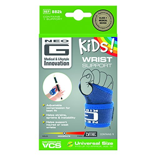 Neo G Wrist Brace for Kids - Support For Juvenile Arthritis, Joint Pain, Hand Sprains, Strains, Sports, Gymnastics, Tennis - Adjustable Compression - Class 1 Medical Device - One Size - Blue by Neo-G (Image #5)