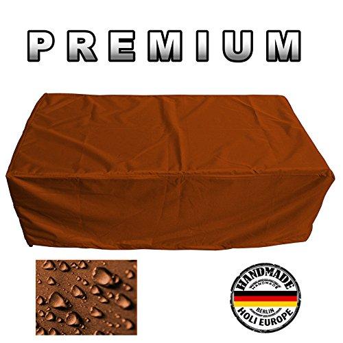 PREMIUM Schutzhülle Gartenmöbel Abdeckung / Gartentisch Abdeckplane B 100cm x T 220cm x H 110cm Orange