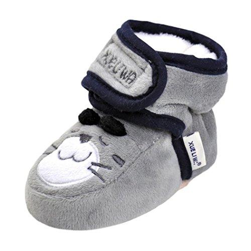 Grau Anti Weiche Clode® Mädchen Krippe Säuglingsbaby Rutsch Stiefel Alleinige Schuhe Karikatur Neugeborene