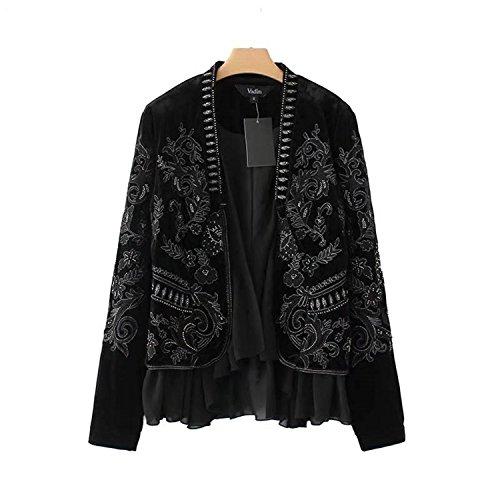 Velvet Ruffle Jacket - 8
