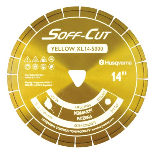 Husqvarna 542777009 Excel 5000 Series XL6-5000 Ultra Early Entry Diamond Saw Blade, 6x0.100-Inch, Yellow (Early Entry Diamond Blade)