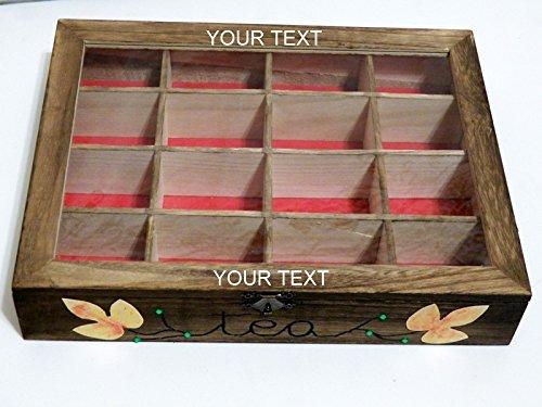 Personalizada Caja de Té, Caja de Almacenamiento de Té, Caja de Té de Madera