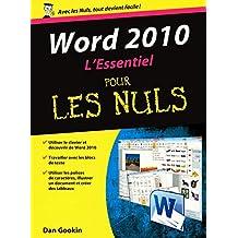 Word 2010 - L'essentiel pour les Nuls