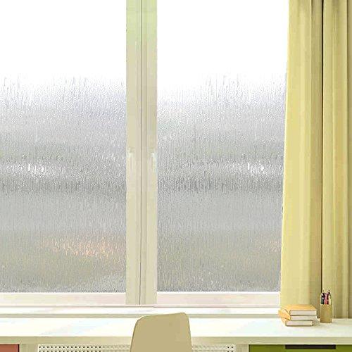 Velimax Rain Glass Film Privacy Window Film Decorative Glass Film Rain Film Static Cling Film 35.4''x 78.7'' by Velimax (Image #4)'