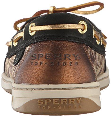 Sperry Top-sider Dames Angelfish Leopard Bootschoen Zwart / Goud Luipaard