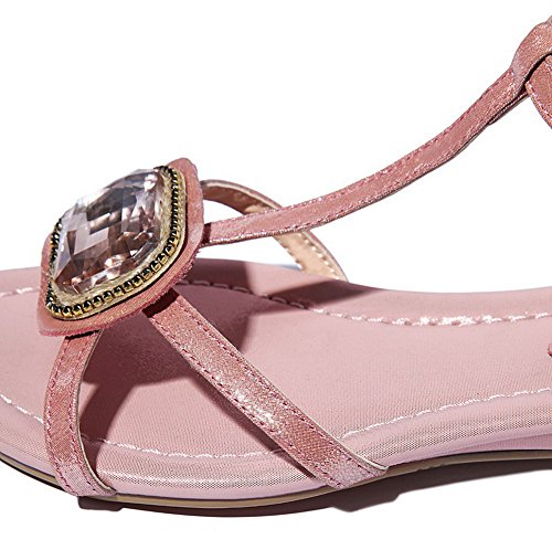 Open WeenFashion Women's Low Pink Toe Sandals Color Heels Assorted Buckle rqYgTqwZ6