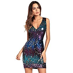 Sequin Cocktail Short Mini Dress