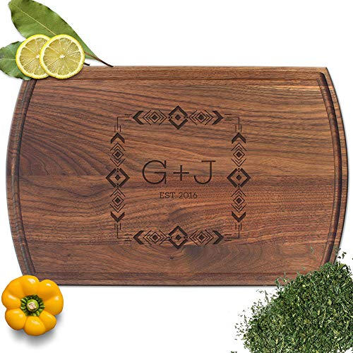 - Froolu Geometric Pattern best cutting boards for Initial Engraved Housewarming Gifts