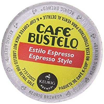 Keurig Cafe Bustelo Coffee Espresso K-Cups Cuban