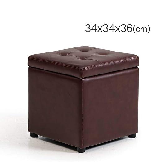 Amazon.com: Taburete acolchado para pies de asiento, otomano ...