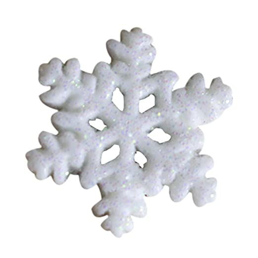 Fashion 10PCS Classic White Snowflake Ornaments Christmas Holiday Party Decor