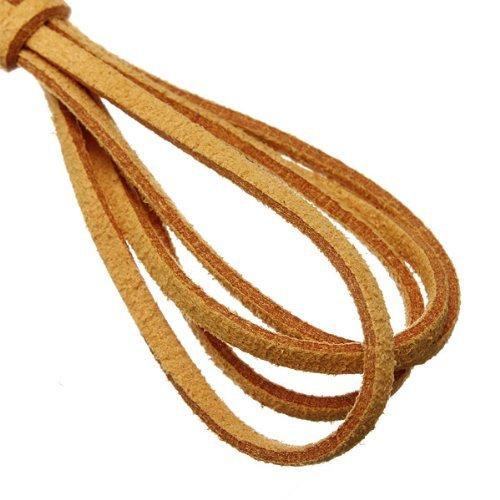 Water /& Wood 3.3 Feet Faux Suede Cord Craft Lace Leather Flat Cord DIY Rope Strings Bracelet Orange
