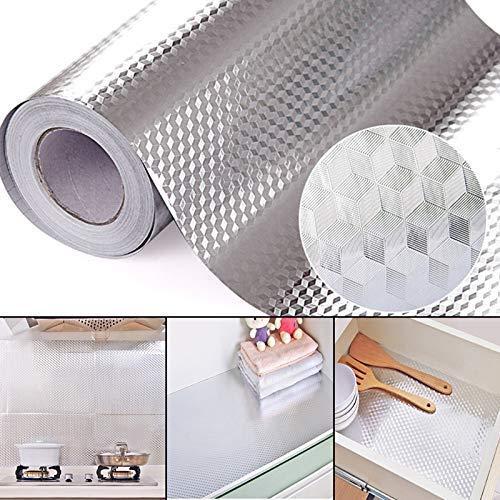 2 Meters Aluminum Foil Stickers, Kitchen Oil Proof Sticker, Kitchen Backsplash Wallpaper...