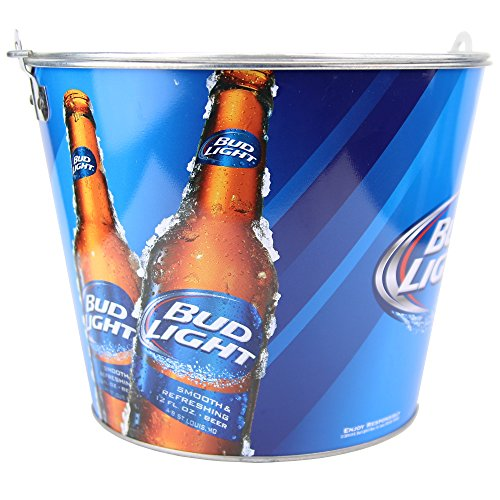 Beer Brand Full Color Aluminum Beer Bucket (Bud Light ''2 Bottle'') by Beer Bucket