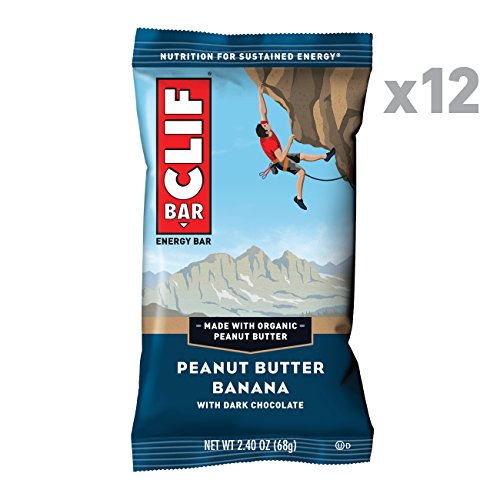 CLIF BAR - Energy Bars - Peanut Butter Banana Dark Chocolate - (2.4 Ounce Protein Bars, 12 Count) (Best Chocolate Peanut Butter Bars)
