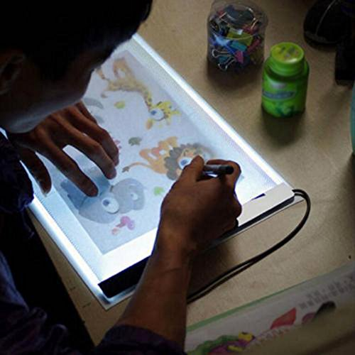 Led light box tracer a4 thin portable light up stencil - Lightbox amazon ...
