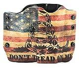 Don't Tread On Me Tan Snake Flag OWB Holster (Right-Hand, Glock 17,19,22,23,25,26,27,28,31,32,34,35,41)