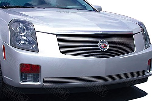 Grillcraft CAD1640-BAC BG Series Polished Aluminum Upper 1pc Billet Grill Grille Insert for Cadillac CTS