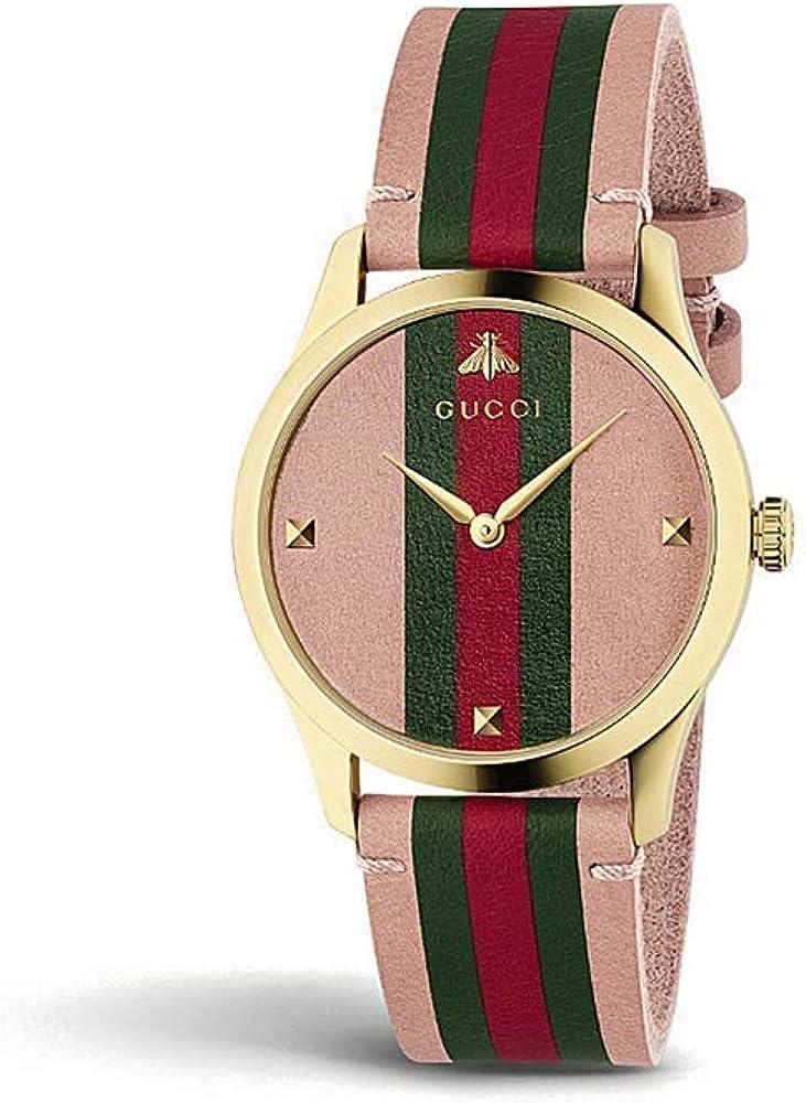 Gucci G-Timeless YA1264118 - Reloj de Pulsera (Piel y Oro): Amazon.es: Relojes