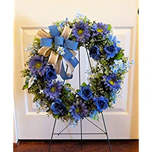Summer Cemetery Wreath, Father's Day Cemetery Wreath, Summer Grave Wreath 7