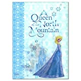 Japan Disney Official Frozen - Elsa the Snow Queen Book Style Crystal Blue Clear File Multi Layer Document Holder Double Sided Folder Wonderful Gift