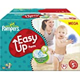 Ancienne version - Pampers Easy Up couches culottes Taille 5 Junior (12-18 Kg) Megapack x84 couches