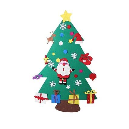 Regali Di Natale In Feltro Fai Da Te.Cokeymove Fai Da Te Albero Di Natale In Feltro Con Ornamenti