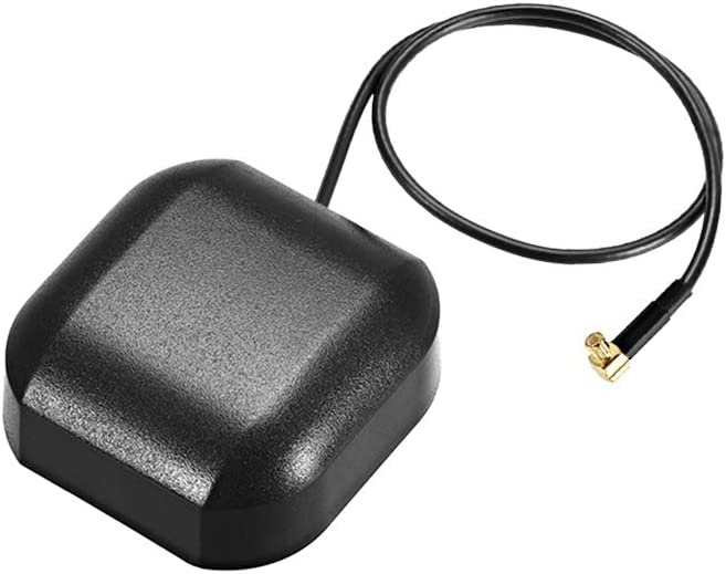 uxcell GPS Active Antenna Compatible with Beidou MCX Male Plug 90-Degree 34dB Aerial Connector Cable with Magnetic Mount 0.5M Wire S