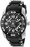 Swiss Legend Men's 'Commander Pro' Swiss Quartz Stainless Steel Casual Watch (Model: 10069-01-BB)