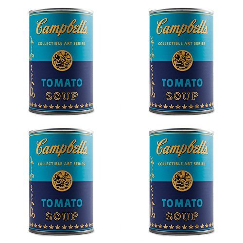 Set of 4 Blind Box Andy Warhol Campbell's Soup Can Vinyl Series Figures Kidrobot Andy Warhol Campbells Soup Can