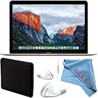 Apple 12 MacBook 512GB (Early 2016 Gold) #MLHF2LL/A + More Bundle