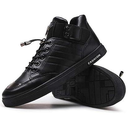 5eb4fe74 DSX Zapatos de Baile de Calle para Hombre Calzado Casual Tobillo de Cuero  Manténgase Caliente Negro