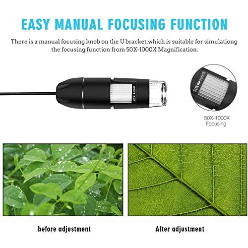 USB Digital Microscope, VSATEN 3 in 1 50 to 1000x