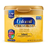 Enfamil PREMIUM Non-GMO Infant Formula, Powder 22.2 Ounce Reusable Tub, Pack of 6