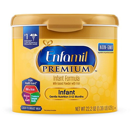 Enfamil PREMIUM Non-GMO Infant Formula, Powder 22.2 Ounce Reusable Tub