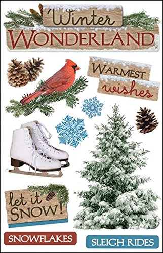 Paper House Productions STDM-0091E 3D Cardstock Stickers, Winter Wonderland (3-Pack)]()
