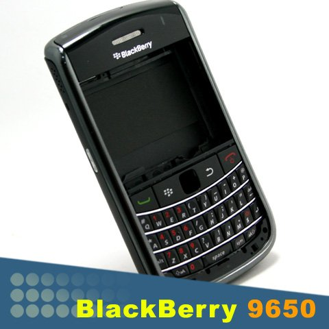 - Original BlackBerry Bold 9650 OEM Full Black Housing Cover + Keypad