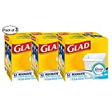Glad Roomate Kitchen Catchers Garbage Bags with Febreze Freshness, 52 Count (Pack of 3)