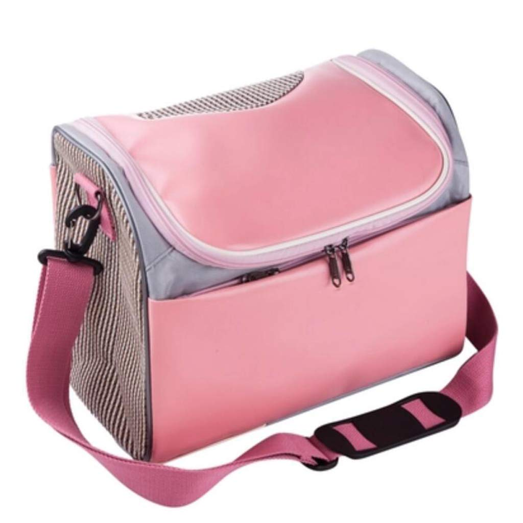 S FJH Cat Bag Cat Breathable Pet Bag Anti-squeezing Cat Box Dog Bag Dog Out Portable Backpack Rabbit Bag With Cat Cage (Size   S)