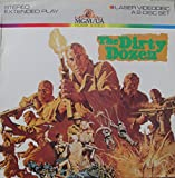 Laser Disc, Laserdisc of the Dirty Dozen with Lee Marvin, Ernest Bornine, Charles Bronson, Jim Brown, John Cassavetes, George Kennedy and Telly Savalas.